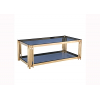China Tempered Glass Top 45cm 24KGS Rectangular Modern Coffee Table on sale