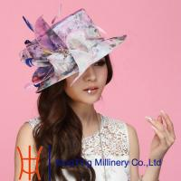 Best Pretty Broach Organza Sun Hats With 57 CM , womens vintage hats wholesale