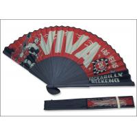 Best 21cm red color cloth with black bamboo Las Vegas rock advertise  Fans wholesale