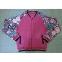 Best Customized Colorful Ladies Fashion Tops Women Zip Jacket Floral Printed wholesale