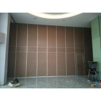 Best Interior Wooden Design Acoustic Partition Wall Sliding Doors For Auditorium / Banquet Hall wholesale