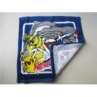China Customized Square Cotton Reactive Printed Hand Towels (CU-144) on sale