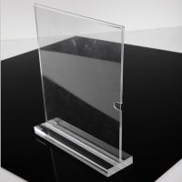 Best Fashion Vertical A4 Size Clear Acrylic Stand Up Sign Holder Portrait Removable Solid Base wholesale
