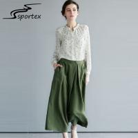 Best Elegant Printed Ladies Shirts And Blouses High Grade Chiffon Fabric Casual Style wholesale