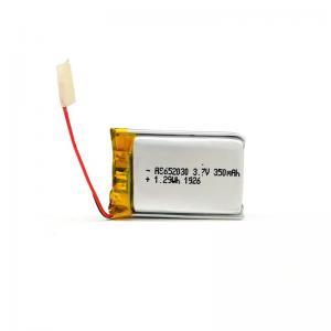 Best 350mAh 3.7 V Lithium Polymer Battery CV Charge KPL652030 wholesale
