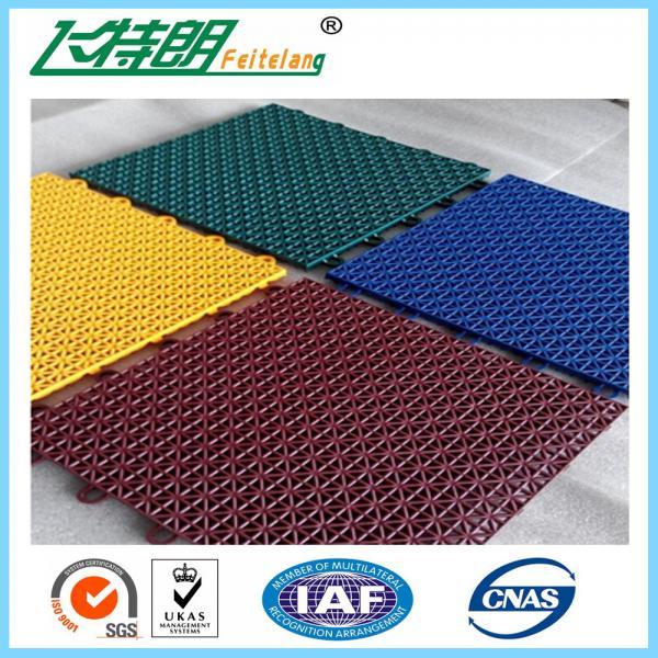 Cheap Multi Used Interlocking Sports Flooring Rubber Playground Tiles Polypropylene for sale