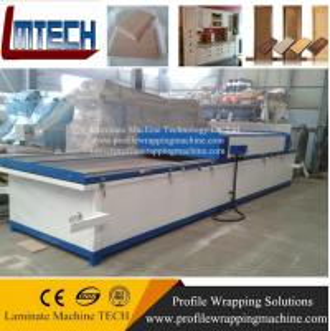 China mdf cheap cabinet hanging sliding door vacuum membrane press machine on sale
