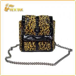 Best Leopard Print Cotton Fabric Shoulder Bag 2012 wholesale