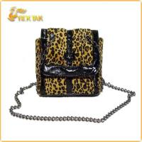 Buy cheap Leopard Print Cotton Fabric Shoulder Bag 2012 from wholesalers