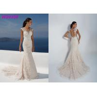 Best Sleeve Less Sexy Backless Fit And Flare Wedding Dress , Bridal Wedding Gowns wholesale