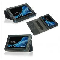 Best Gray PU 7 Inch PC Acer Tablet Leather Case With Handstrap Wake Up / Sleep wholesale
