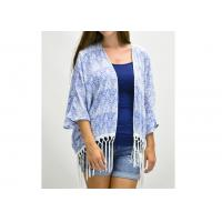 Buy cheap Summer Gorgeous Floral Print Ladies Tops And Blouses / Fringe Kimono from wholesalers