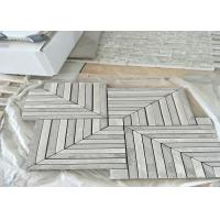 Best Whit	Marble Mosaic Tile , marble mosic floor tile 10mm Thickness 302x302mm Sheet Size wholesale