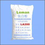 Best High Whiteness White Power Anatase Type TiO2, High Purity Anatase Titanium Dioxide LA200Loman Brand wholesale