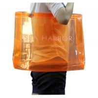 Best Transparent PVC Reusable Carrier Bags With Twist Rope Handle For Lady Shopping wholesale