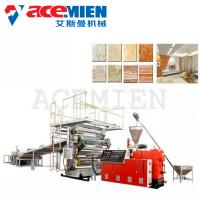 China Low Noise PVC Imitated Artificial Marble Making Machine 250 Kw With T Type Mould on sale