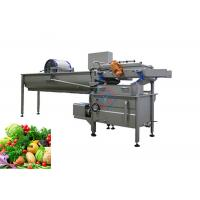 China Vortex Type Vegetable Fruit Washing Machine with Deslagging Function on sale