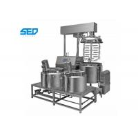 Best 300L Ointment Manufacturing Machine , Pharmaceutical Use Vacuum Emulsifying Mixer wholesale