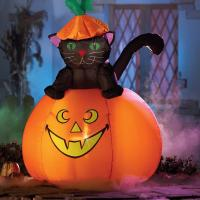 Best Factory Customized Halloween Party Decoration Inflatable Black Cat wholesale