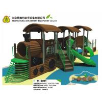Best OEM Wooden Train Playground , kindergarten playground slide wholesale