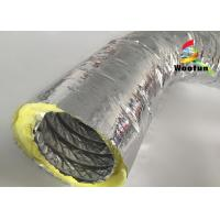 High Temperature HVAC 14 Inch Flex Heating Duct Insulation Wrap Single Layer