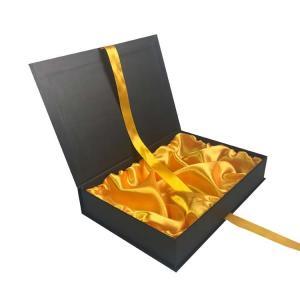 China Recycled Paper Gift Boxes Custom logo Clothing box luxury black rectangle box on sale