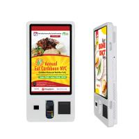 China 32 Self Service Ordering Kiosk Touch Screen Free Standing Payment Interactive on sale