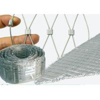 China Architectural Fence X Tend Wire Rope Mesh , Flexible Stainless Steel Cable Mesh on sale
