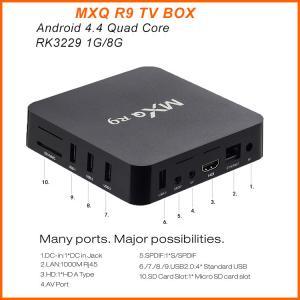 MXQ R9 4K Android TV Box RK3229 Quad Core UHD 4K 60fps Smart TV Box MXQ R9