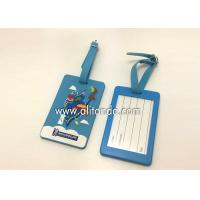 Best Blank pvc luggage tags custom logo image words numbers can be added wholesale