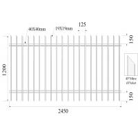 Best Q235 Interpon Weather Resistance Garrison Fence Panels For Garden / Factory wholesale
