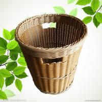 Best PP Weaving Rattan Plastic Dirty Clothes Baskets/Bins Organizer with Handles wholesale