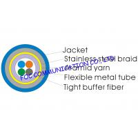 China Optical Fiber Cable 4core With Flexible Metal Tube and Braid For CATV on sale