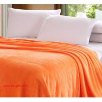 China Flannel air/sofa/bedding Solid Color Blanket Throw and Double Faced Travel Flannel Blanket on sale