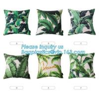 China Tropical Leaf Latest Design Digital Printing , Cushion Cover Decorative Pillow Covers on sale