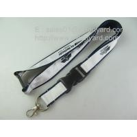 China Luxury sublimation satin applique polyester lanyards, high-end satin label overlay lanyard on sale