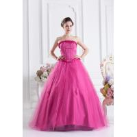 Best Pretty Strapless Princess Floor Length Tulle Quinceanera Party Dresses With Beads wholesale