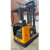Best 1.5-2 ton forklift reach truck narrow aisle seated electric reach truck yellow color wholesale