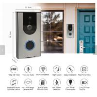 China Rechageable 18650 Battery Built in 8G TF Card Hisilicon Hi3518E Home Security Hidden Smart Doorbell With Wifi Camera on sale