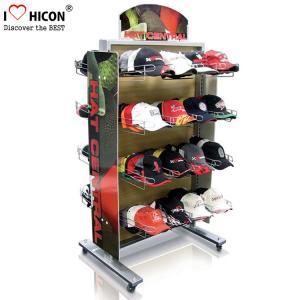 China Movable Retail Display Fixture Metal Multiple Nice Hat Cap Display Racks on sale