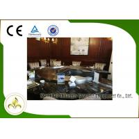 Best Upper or Down Fume Exhaustion Gas Teppanyaki Grill Table 12 Seats Pipeline Natural Gas Heating wholesale