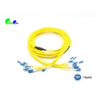 Best 1310nm 24F LC UPC SM Fanout Fiber Patch Cord Pre Terminated wholesale