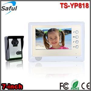 China apartments villas 7 inch monitor IR night vision outdoor camera home door phone intercom on sale