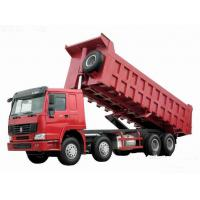 Best 371hp Howo 8x4 tipper truck / dumper truck HW76 cab with one berth 7m length wholesale