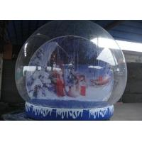 Cheap Round Shaped Inflatable Snow Globe Plato Tarpaulin Base For Steady Decoration for sale