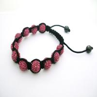 Best A unique design red 12mm crystal beaded bracelet CJ-B-179 for anniversary, gift wholesale