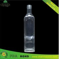 Best Square Olive Glass bottle wholesale