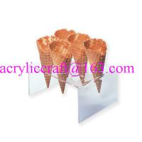 Best U shape 6 holes transparent acrylic waffle cone tray wholesale