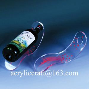 Best Tùy 5mm rõ ràng Bảng Top Acrylic Độc Slant Rượu Chai Display Đứng wholesale