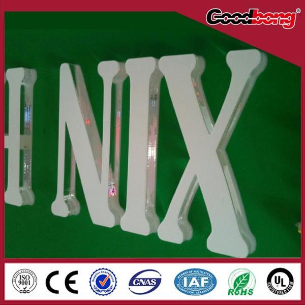 Cheap Electroplating acrylic billboard LED light letter / 3D light letter for sale